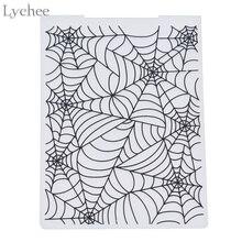 Lychee пластиковая папка для тиснения для скрапбукинга DIY альбом карта инструмент пластиковый шаблон штамп паутина шаблон