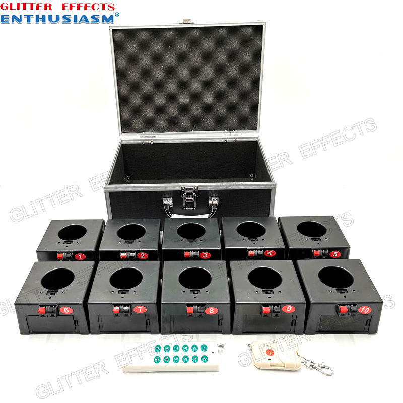 D10 Ten channel double remote control indoor fountain base wedding machine