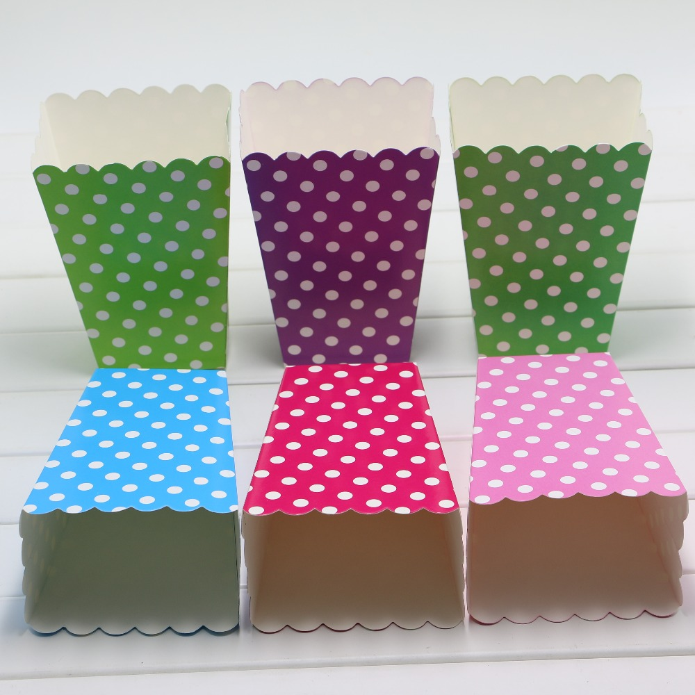 Diy baby shower favor boxes - Popcorn Box 6 Pcs Lot Pop Baby Shower Mini Chevron Popcorn Box Party Favor