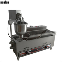 XEOLEO Gas and Electric Automatic Donut Maker Commercial Donut Machine Doughnut makers Stainless steel Gas and Electric 4000w