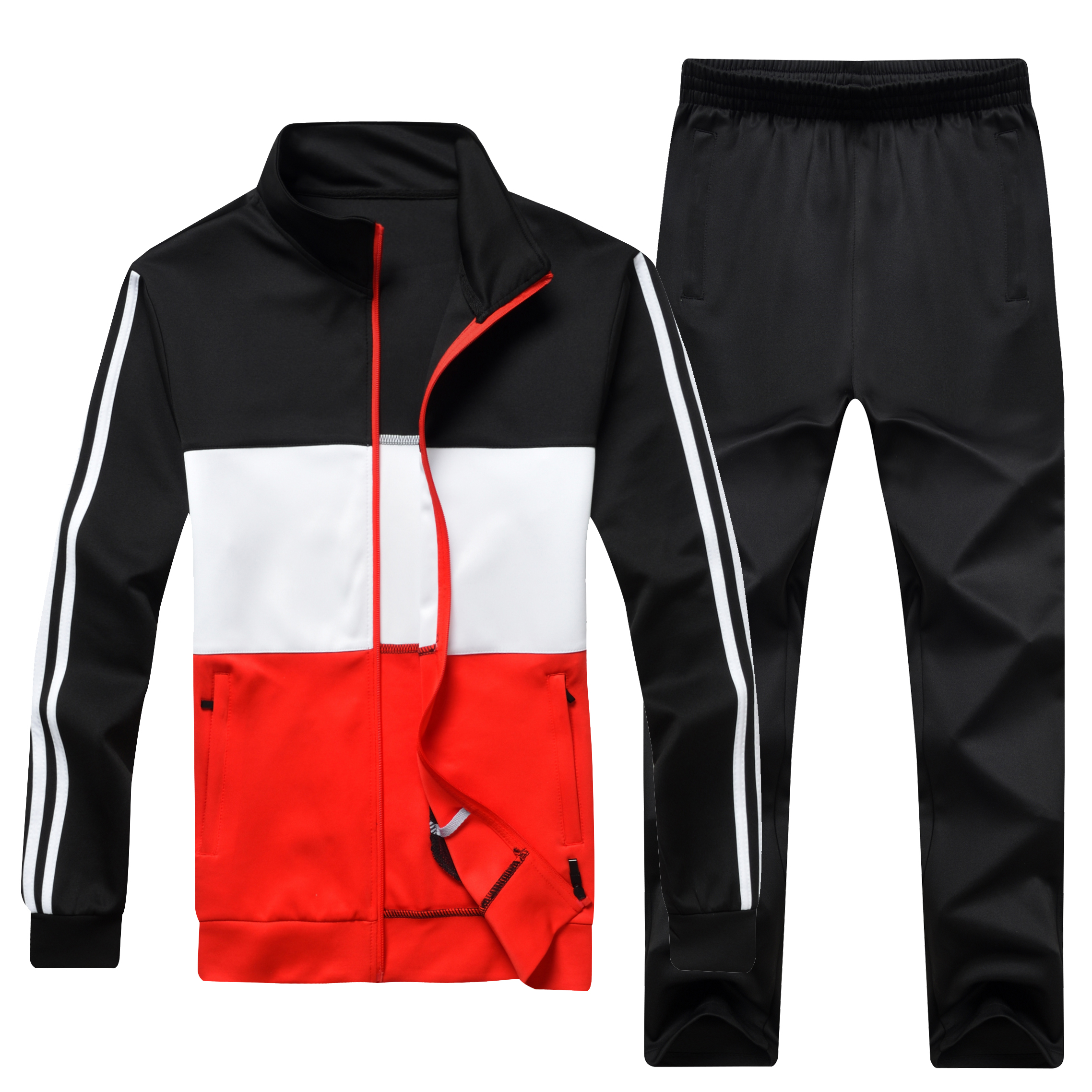 Men's Sportswear Tracksuit Men Track Suit Jacket+Pants 2 Two Pieces Clothing Set Casual Male Spring Autumn Sweatsuit 4XL 5XL