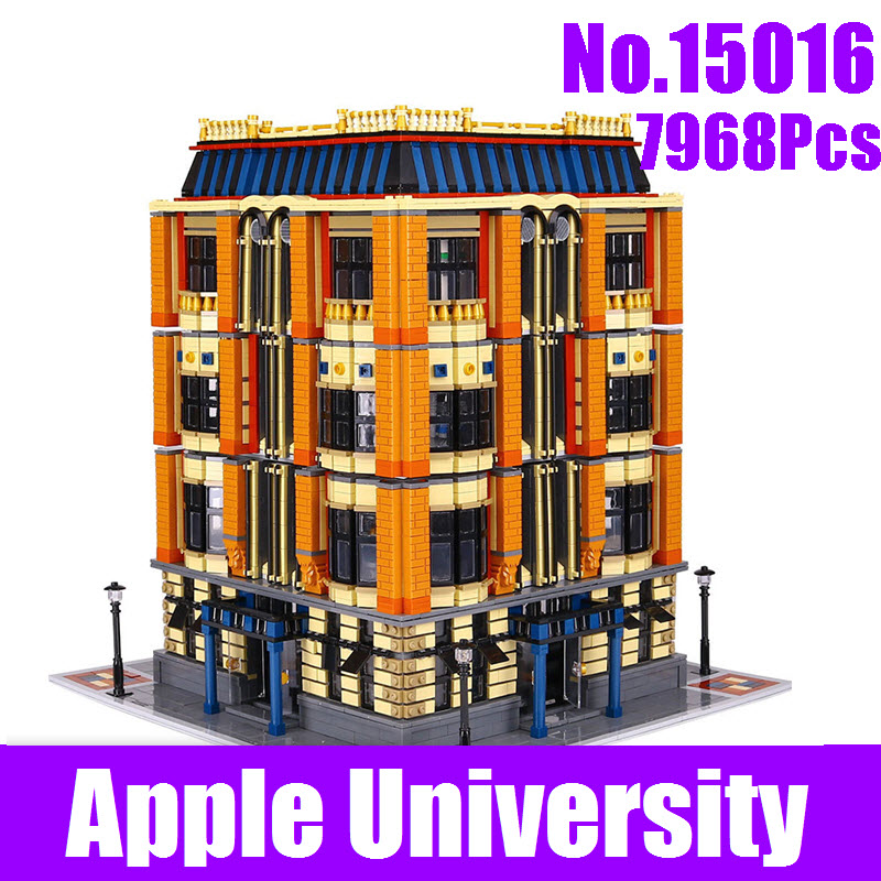 New 7968Pcs Lepin 15016 Genuine MOC Creative City Street Series The Apple University Set Building Blocks Bricks Educational Toys ynynoo lepin 02043 stucke city series airport terminal modell bausteine set ziegel spielzeug fur kinder geschenk junge spielzeug