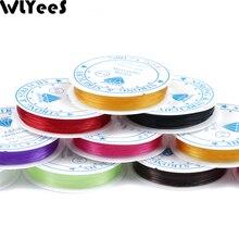 WLYeeS эластичный шнур из прозрачного хрусталя 0,6/0,8/1,0 мм для ювелирных изделий, аксессуары для изготовления браслетов, нить 1 рулон
