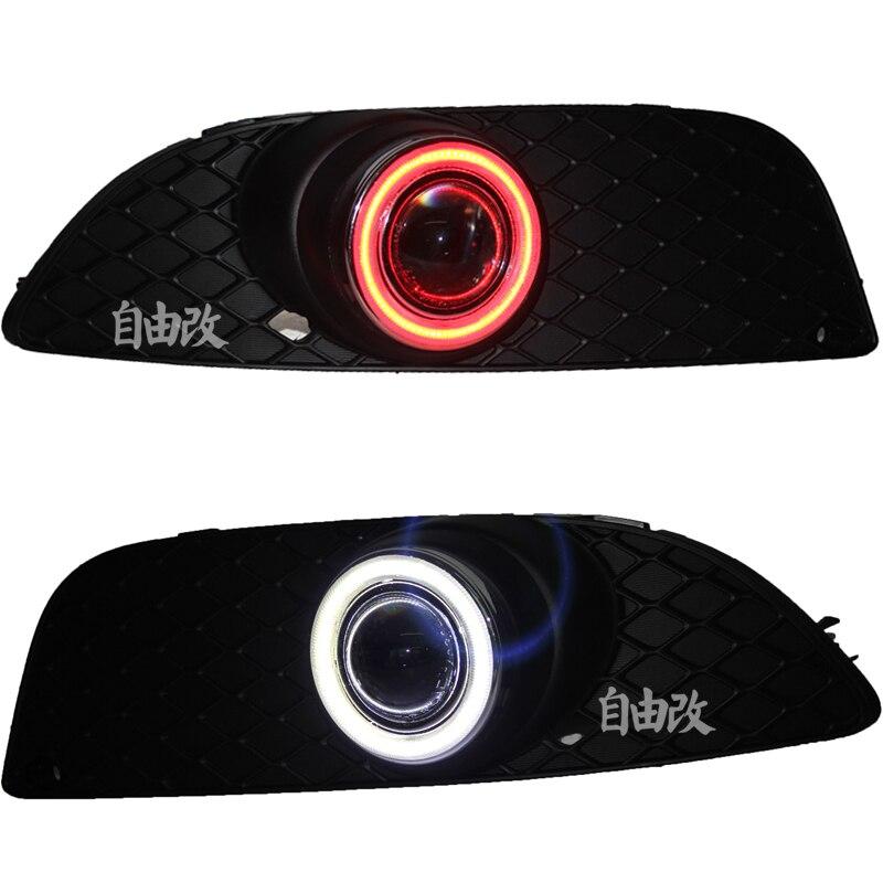 Новый инновационный Ангел глаз дневные ходовые свет + Галогенные Противотуманные фары объектив проектора и дело противотуманная фара для Mitsubishi Lancer бывших