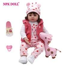 66d066090 NPKDOLL bebé Reborn muñeca nuevos de silicona Boneca Adorable niña  encantadora 45 cm Vinilo Suave sorpresa