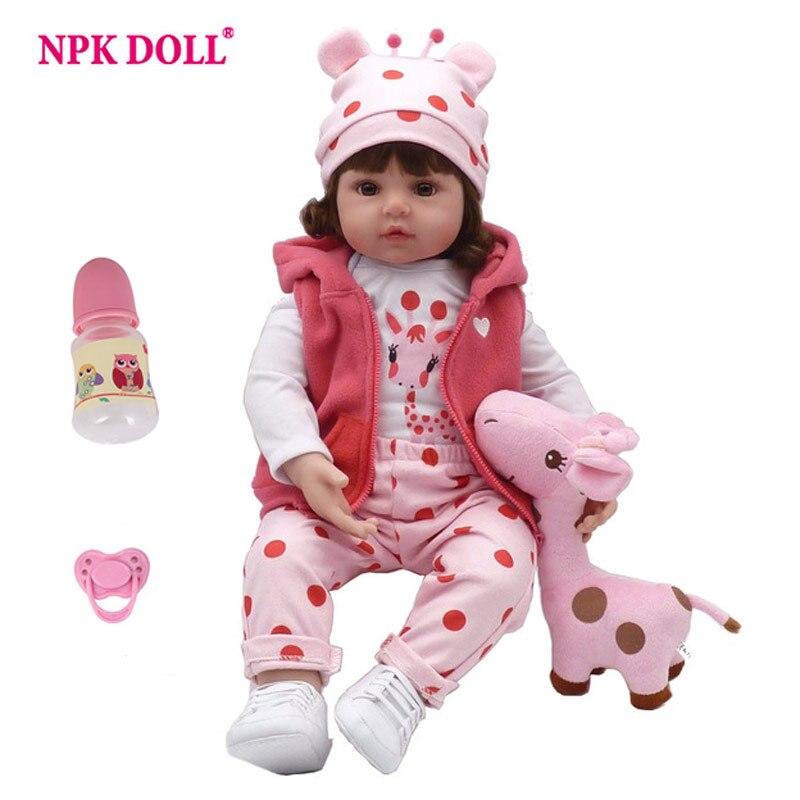 NPKDOLL bebé Reborn muñeca nuevos de silicona Boneca Adorable niña encantadora 47 cm/57 cm de Vinilo Suave sorpresa de Navidad regalo de los niños