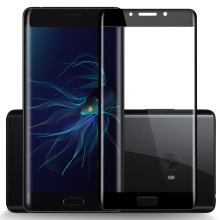 3D Curved Edge Tempered Glass for Xiaomi Mi Note 2 Protective Screen Black 5.7 In Full Cover Film