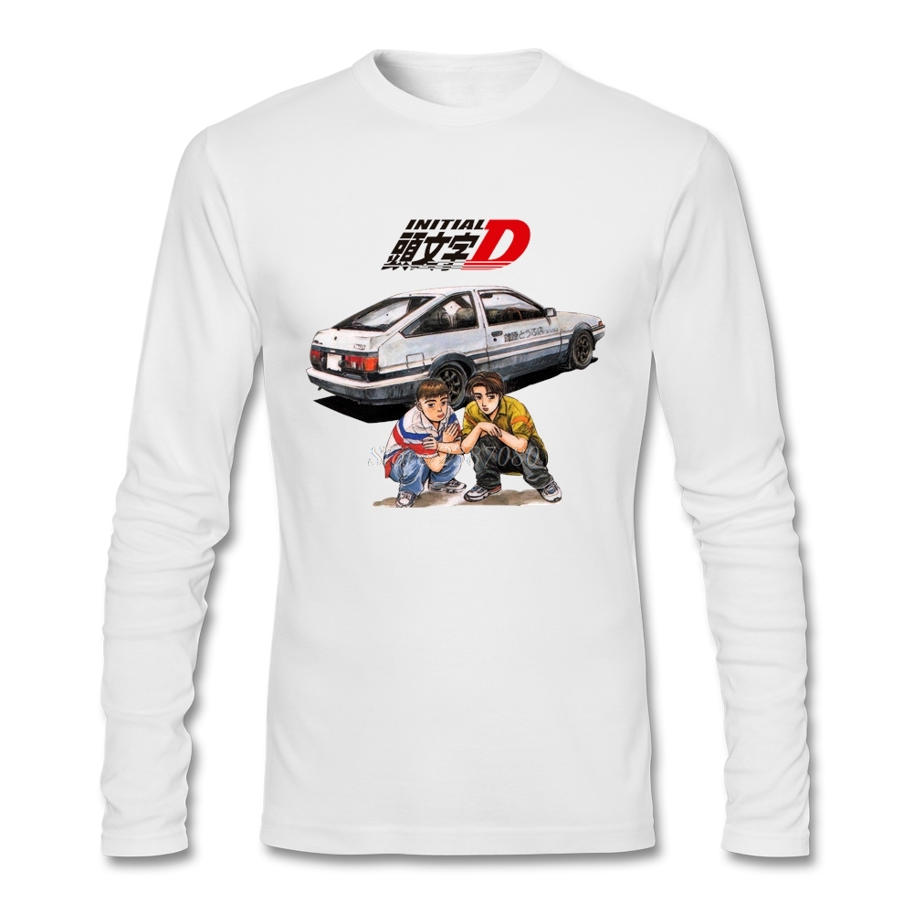 Youth Comics Initial D T Shirt Custom Long Sleeve Men's T