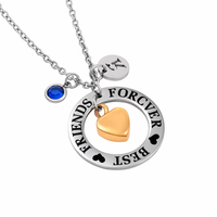 IJD0040 Circle With Golden Small Heart Urn Charm Necklace Hold Human Ashes Keepsake Cremation Pendant Necklace