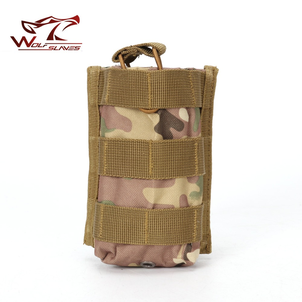 Molle Tactical Single Rifle Belt Mag Pouch Open Top Bag <font><b>M4</b></font> M16 5.56 .223 <font><b>Magazine</b></font> Pouch Outdoor Walkie Talkie Bags Rifle Pocket image