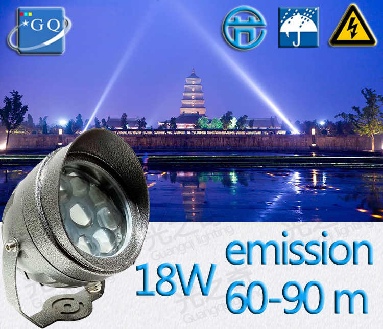 Outdoor LED Spotlight Waterproof IP65 Wall Lamp Narrow Beam Angle LED Floodlight 3W 10W Spot Lamp Long Distance Wall Washer Lamp
