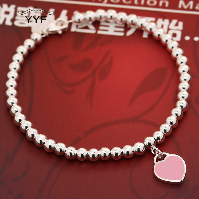 PY original 100% 1:1S925 TIFF Pink Bracelet Mini blue charm jewelry fashion suitable for wedding accessories gifts
