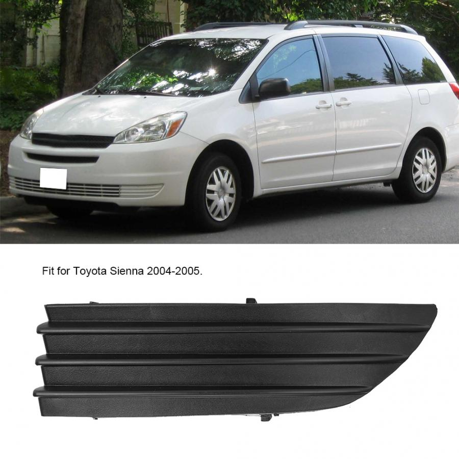 Front Fog Light Cover Right Passenger Side Front Bumper Fog Light Cover Fit for Toyota Sienna 04-05 TO1089109