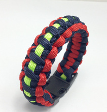 Outdoor Camping Braided Pulseras Rescue Paracord Bracelet Parachute Cord Men Bracelet Emergency Rope Survival Buckle 3Colors Mix