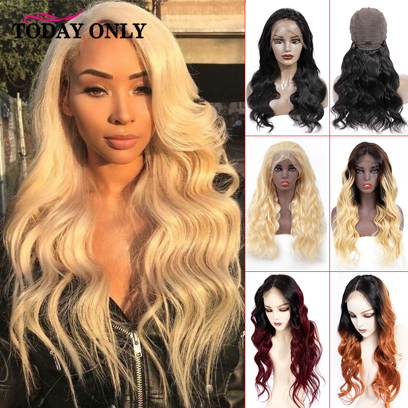 TODAY ONLY Brazilian Body Wave Wig 13x4 Short Human Hair Wigs For Women 613 Blonde Lace