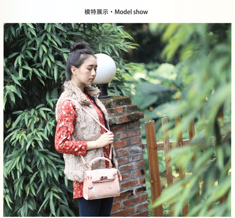 x8 New Sale Bolsas Mujer Small Peekaboo Saddle Faux Leather PU Pink Cat Floral Women\'s Handbags For Lady  Messenger Bags Totes