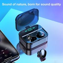 Rondaful Smart Touch Control Bluetooth V5.0 TWS True Wireless Earbuds Earphone + Charging Box Hi-Fi Stereo Sound Bilateral Calls blitzwolf bw fye1 bluetooth v5 0 tws true wireless sport earphone tws earbuds hi fi stereo dual microphone w charging box