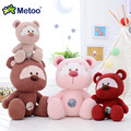 Stuffed Cartoon Metoo New Design Dolls Plush Super soft Gray Bears Button Styles Metoo Pink Bears Best Gifts for Kids 22 cm