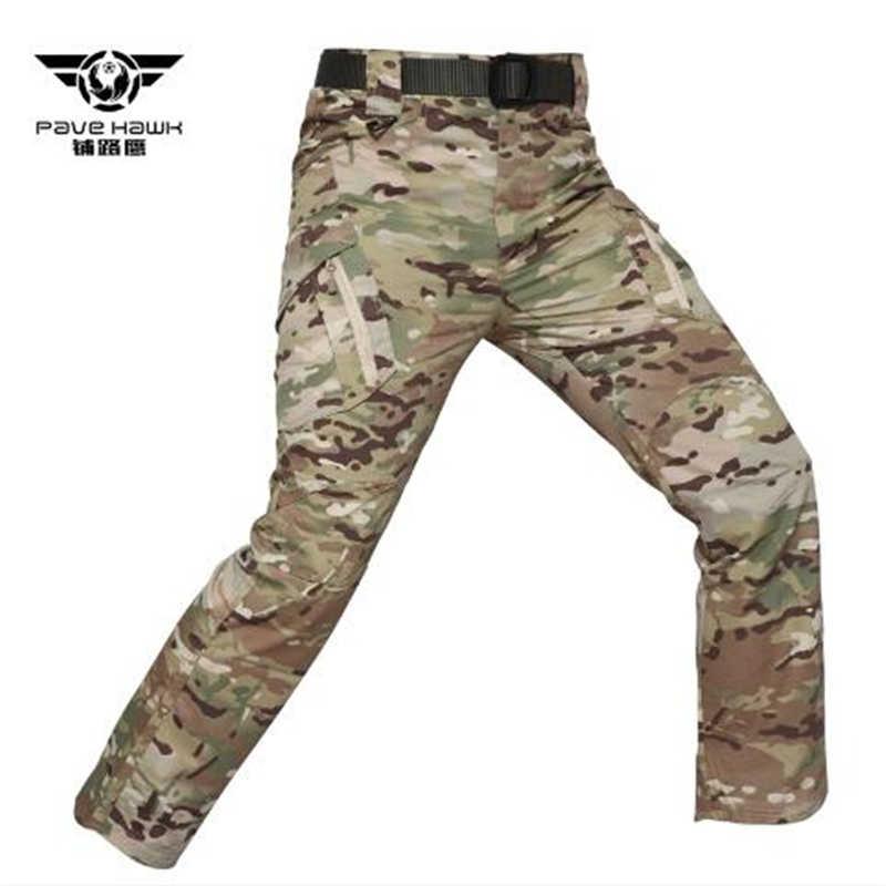 2019 nowy IX9 miasto wojskowe taktyczne Cargo spodnie do wędrówek pieszych mężczyźni bojowe armii spodnie męskie na co dzień wielu kieszenie Stretch spodnie bawełniane
