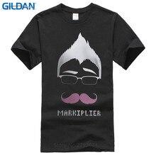 T Shirt Designer Fashion 2017 Men O-Neck Short-Sleeve  Popular Markiplier Mustache Youtuber Tee Shirts