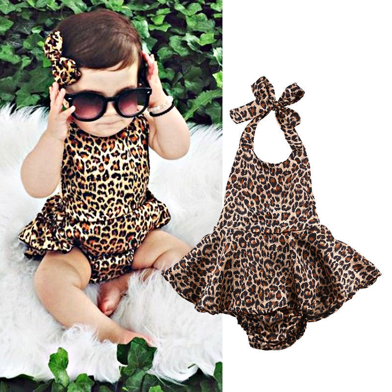 Newborn Toddler Baby Girl Polyester Sleeveless Dress Body Romper Jumpsuit Princesses Outfits One-pieces US