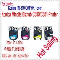 Para Konica C450 C350 C351 C450P Recarga de Toner  Para Konica 350 351 450 TN310 TN 310 TN310K TN310C TN310M TN310Y Cartucho de Toner|toner reset chip|toner chip resetertoner cartridge chip reset -