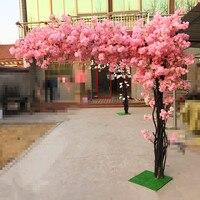180cm tall Wedding Pink imitation tree/ cherry blossom tree Wedding Decoration Event Props