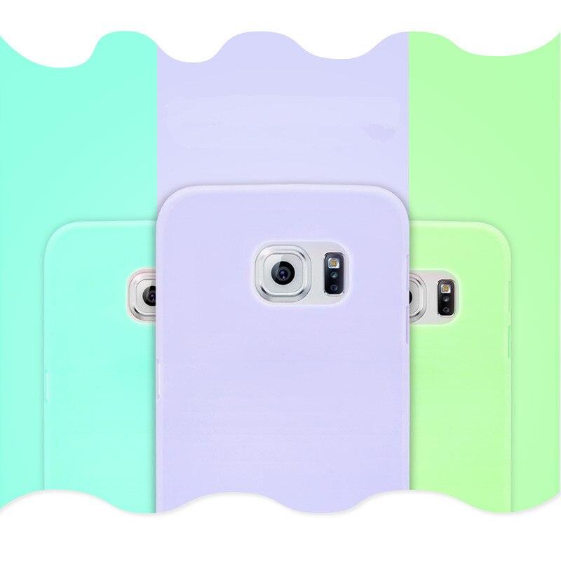 5436fd0023b Candy colores suave TPU silicio casos Coque para Samsung Galaxy S5 S6 S7  borde A3 A5 2016 J5 Core Grand caso principal para el iPhone 5S 6