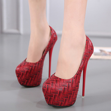 16CM ultra-fine high-heeled shoes 2017 new wild shoes Sexy waterproof shoes
