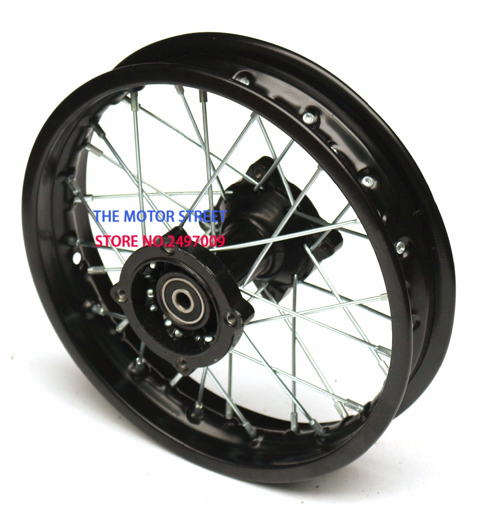 Black 1.85-12 Inch Hoops Steel Wheel Rims Fitting For 80/100-12 Wheels Tyres Use For KLX CRF Apollo Motocross Accessories