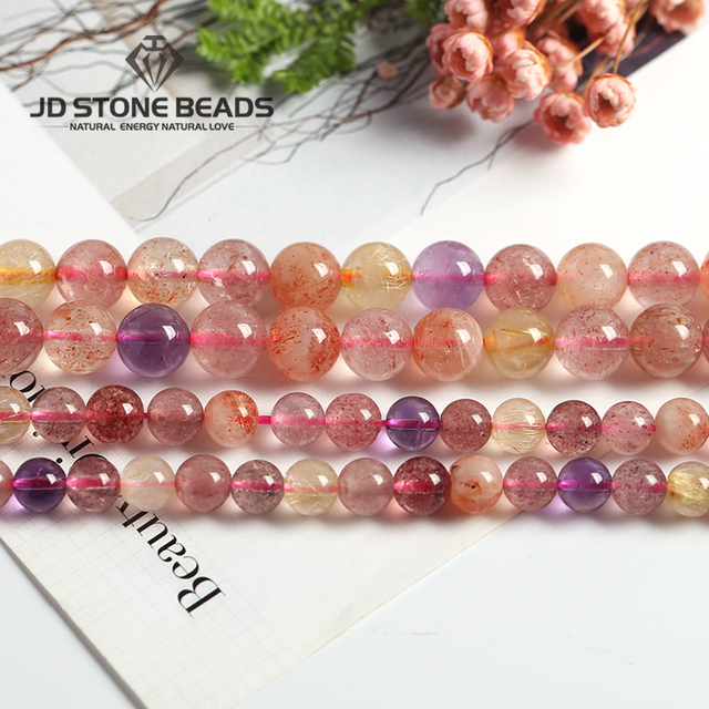 Beads Mixed super seven quart Tiger Eye Bulk Loose Stone Beads For DIY Making Br