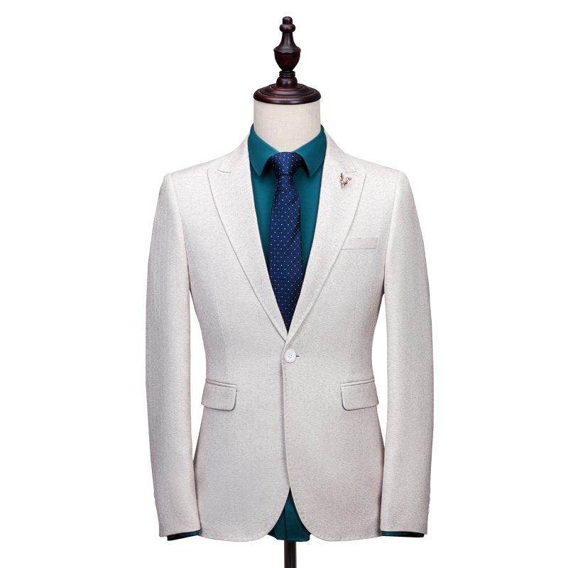 Latest Coat Pant Designs Ivory Tweed Suit Men Formal Skinny Blazer ...