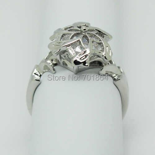 Бесплатная доставка, кольцо из серебра 925 пробы с цветком Nenya Galadriel + кольцо в коробке, ювелирное изделие в виде Хоббита