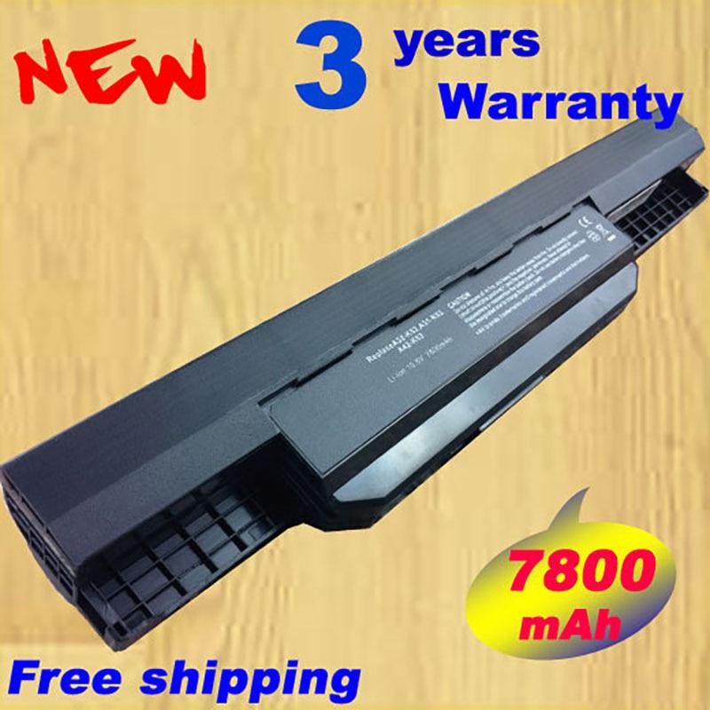 7800mAh laptop battery for Asus A32 k53 A42-K53 A31-K53 A41-K53 A43 A53 K43 K53 K53S X43 X44 X53 X54 X84 X53SV X53U X53B X54H new laptop for asus a53t k53u k53b x53u k53t k53t k53 x53b k53ta k53z top lcd plamrst cover bottom cover hinges speaker jack