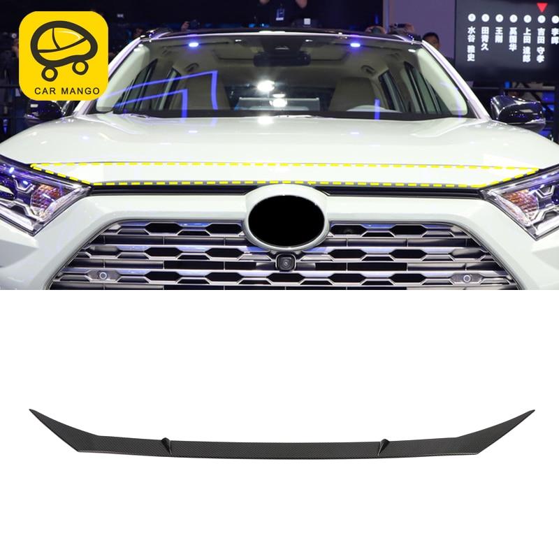 CarManGo pour Toyota RAV4 2019 voiture style moteur haut capot couverture cadre garniture autocollant accessoires extérieurs