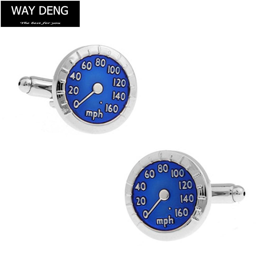 Way Deng - Fashion Mens Cufflinks Car Tachometer Design Gentleman Tuxedo Shirt Cuff Links Jewelry Gift - YC043