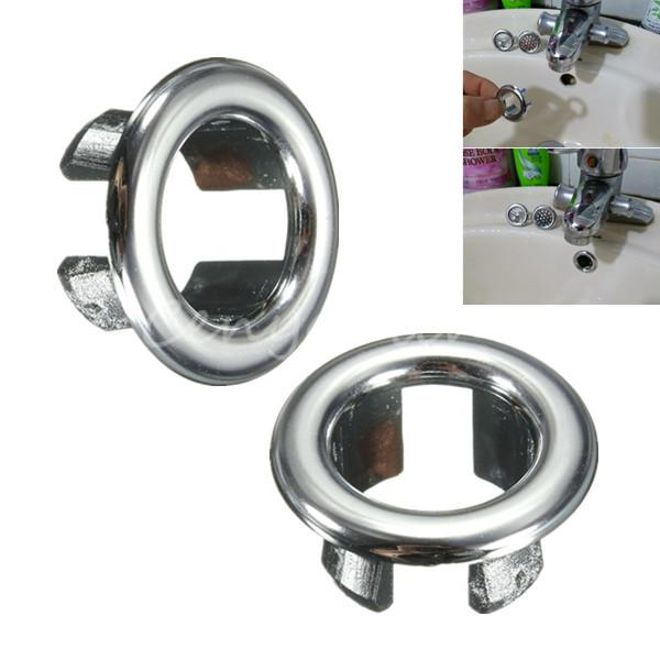 10pcs Lot Bathroom Basin Sink Hole Overflow Cover Chrome Trim