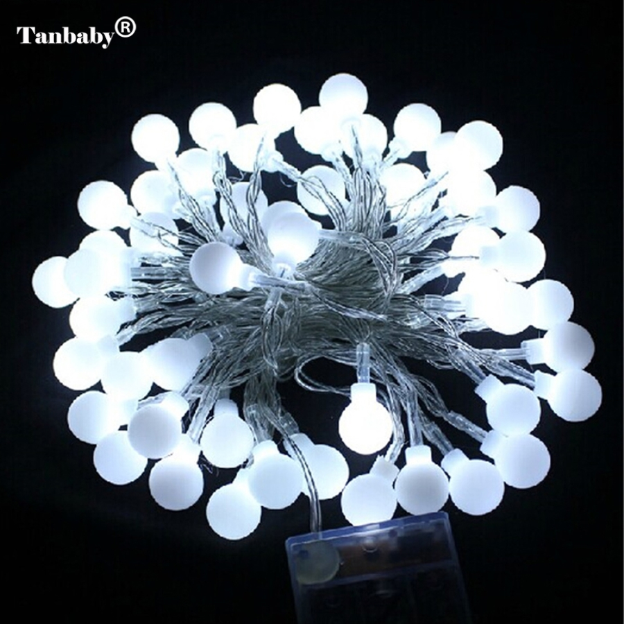 Tanbaby 5M 50LEDs Battery Powered Led Ball String Fairy Lights Lamps For  Patio Garden Camping Christmas Holiday Party Wedding