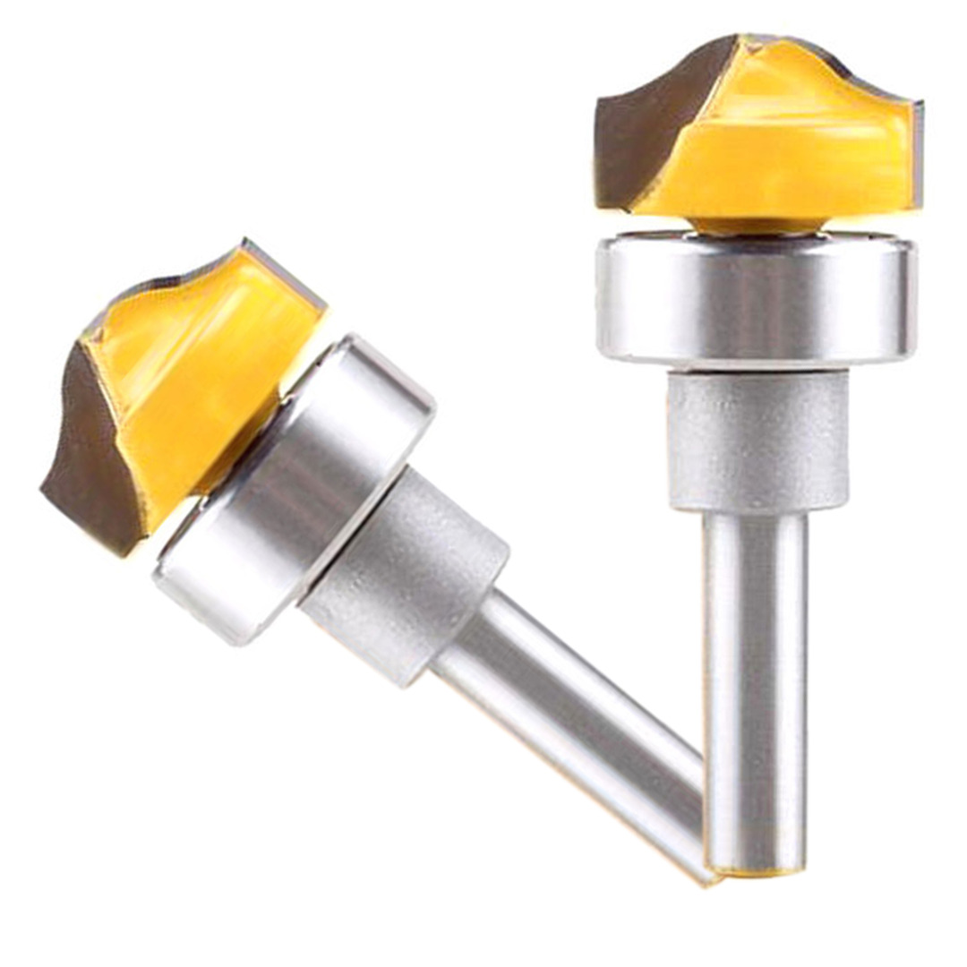 1pc 1/4x3/4 Shank Groove Template Router Bit Wood Cutter For Woodworking Tool high grade carbide alloy 1 2 shank 2 1 4 dia bottom cleaning router bit woodworking milling cutter for mdf wood 55mm mayitr