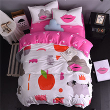 Regatia Print Teens Bedding set twin queen king size Bedclothes 100% Twill Cotton Bedlinen Duvet Cover Sets