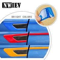 NWIEV Car Styling For Peugeot 307 206 407 Citroen C4 C5 Honda Civic Accord CRV Fender 3D Emblem Sticker Reflective Accessories