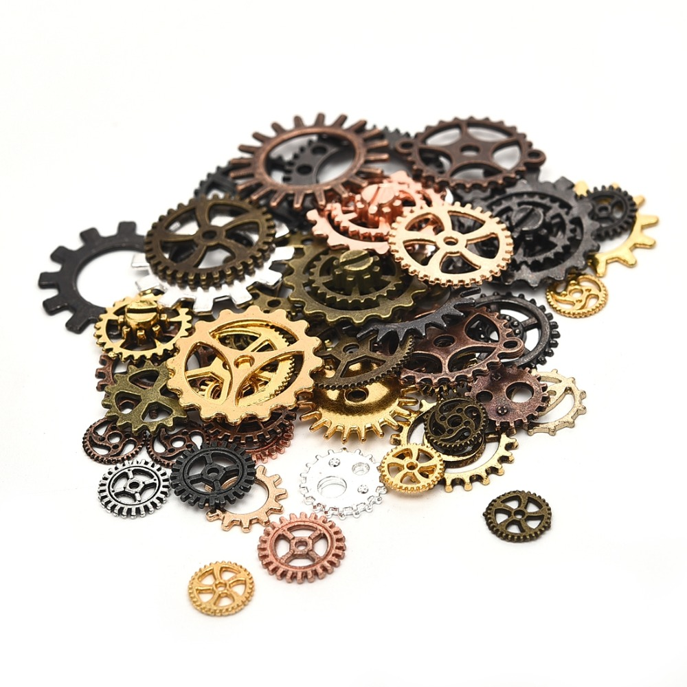 Home & Garden Steampunk Gears Charms Pendant For Diy Jewelry Making Handmade Bracelet Necklace Key Chain Bag Accessories M206 With The Most Up-To-Date Equipment And Techniques