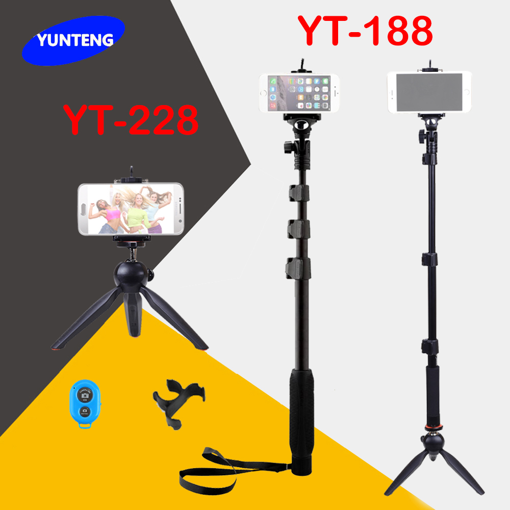 4 in 1 yunteng 188 handheld selfie stick yunteng 228 mini tripod bluetooth re. Black Bedroom Furniture Sets. Home Design Ideas