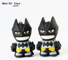 1pcs The Avengers Batman LED Flashlight Action Figure Toys With Sound Keychains Gifts