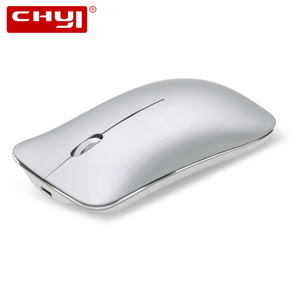 CHYI Wireless Rechargeable Mouse Ergonomic 800/1200/1600DPI Aluminum Alloy Silent Platypus Mice with Wrist Rest Mouse Pad Kit PC chyi wired mouse ergonomic vertical 800 1000 1200 1600dpi 5 keys usb gaming mice with mouse pad kit wrist rest mat for pc laptop