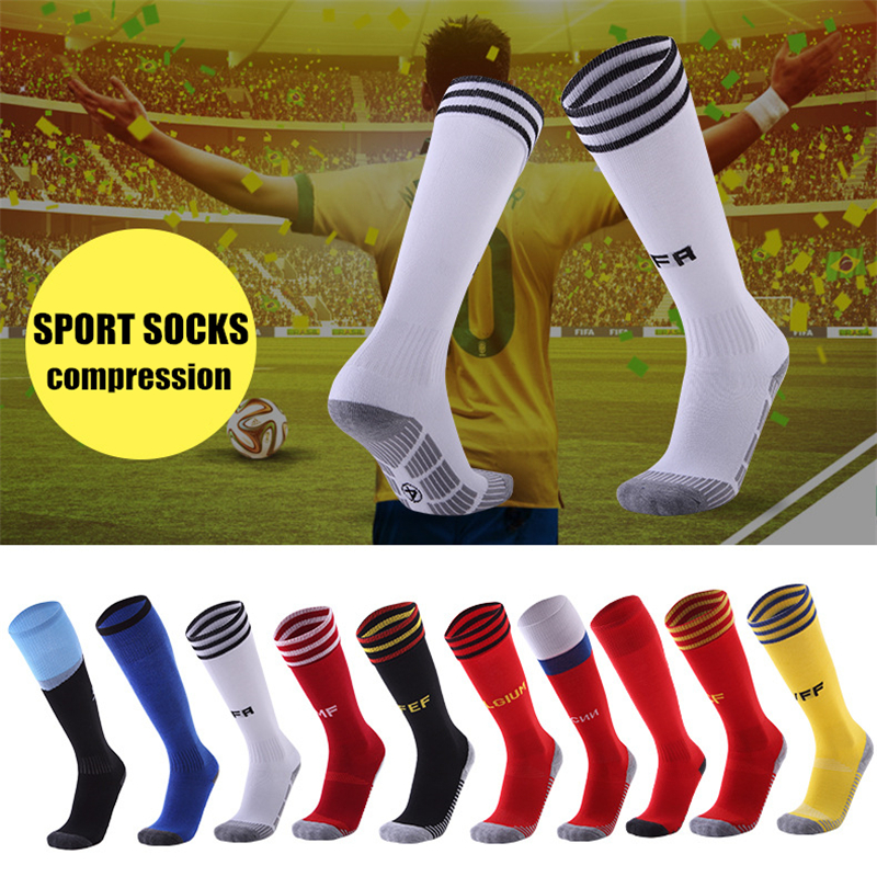 Sport Socks Compression Stockings Team Sports Running Socks Cycling Anti-slid Anti-smell Breathable Thick Thermal Socks Soccer