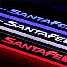 LED travesaño de la puerta para Hyundai Santa Fe IX45 2013 2014 2015 accesorios de móvil Del Led puerta de la placa del desgaste del pedal bienvenida