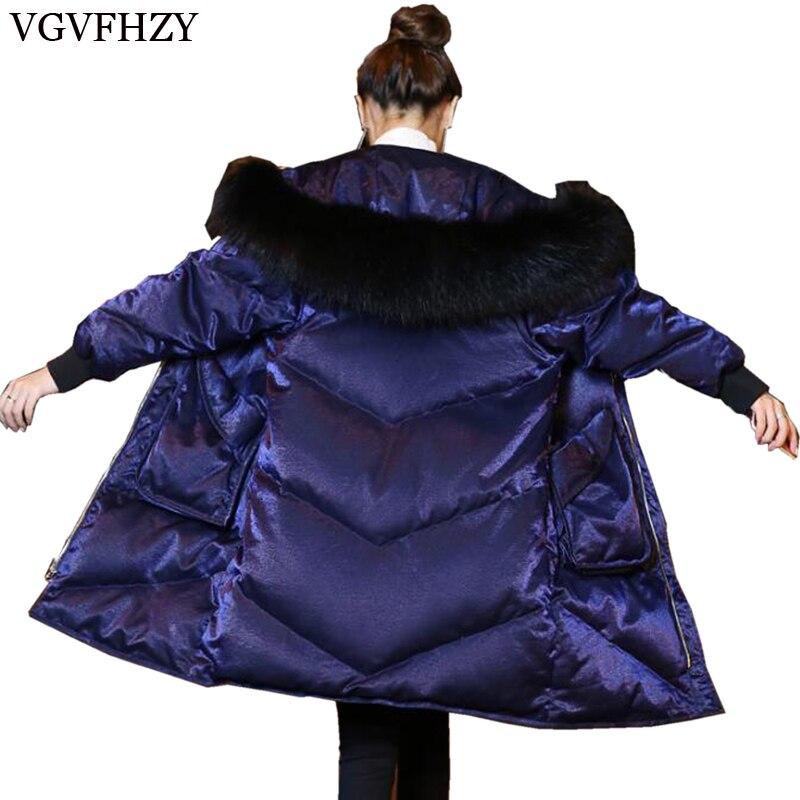 Top Quality Fashion Jacket Women Natural Fur White Duck   Down   Women Parka Winter   coat   Thick Hoody Winter   Down     Coat   Female Parkas