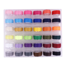 36Pcs Colorful Sewing Thread Home Machine Bobbin  Transparent Hollow Spool Storage Case sewing tools