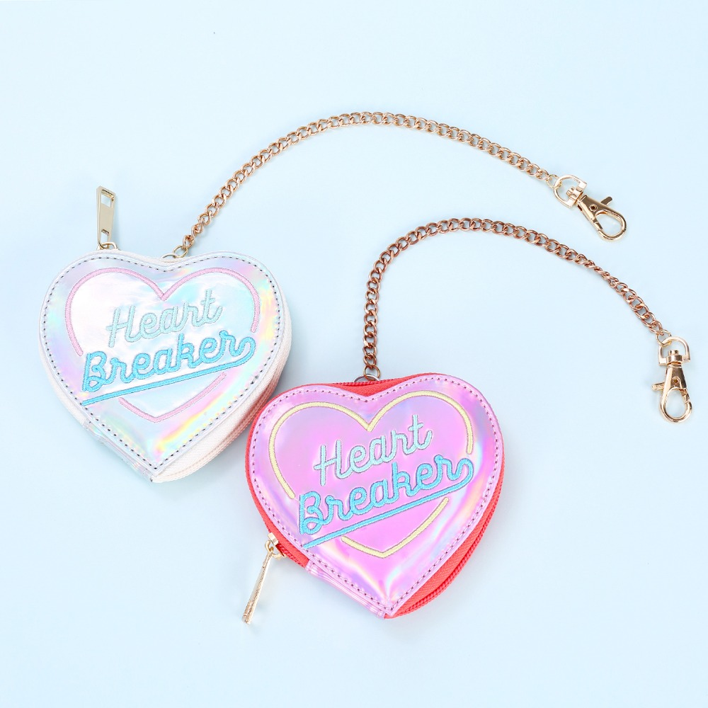 Bentoy Cute Leather Mini Wallet Women's Heart Purse Wallet PU Small Coin Purse Zipper Clutch Money Card Holders Bag Pouch
